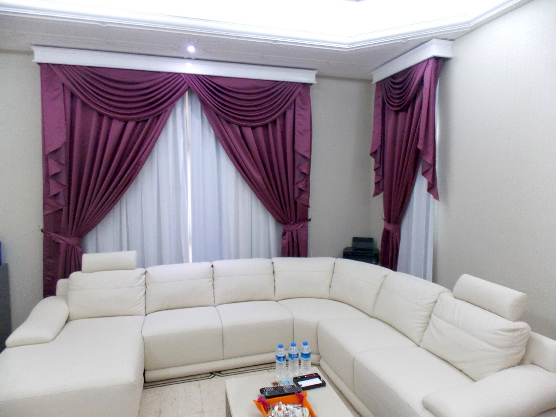 Curtains And Sheers With Pelmet Master Bed Room Al Mizhar