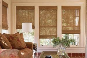 Bamboo Blinds of Living Area