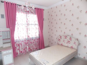 Eyelets-Curtain,-Headboard-and-wallpaper-of-Kids-room-in-Falcon-city-Dubai