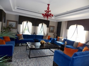 Upholstery of Sofa with Cushions of Living Area in Meadows, Dubai.